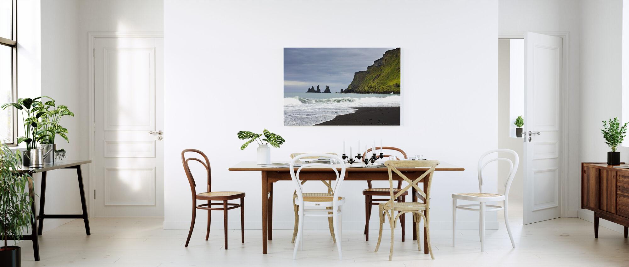 Black Sand of Iceland - Canvas print - Kitchen