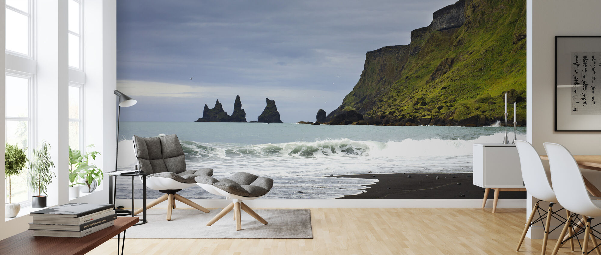 Black Sand of Iceland - Wallpaper - Living Room
