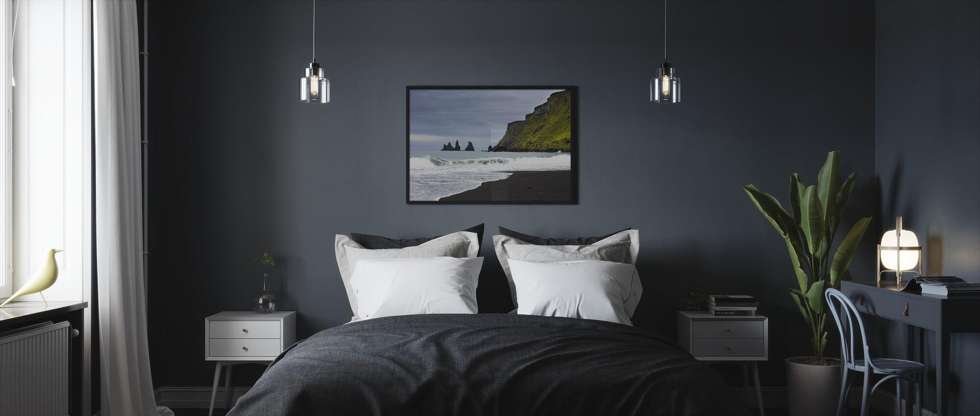 Black Sand of Iceland - Framed print - Bedroom