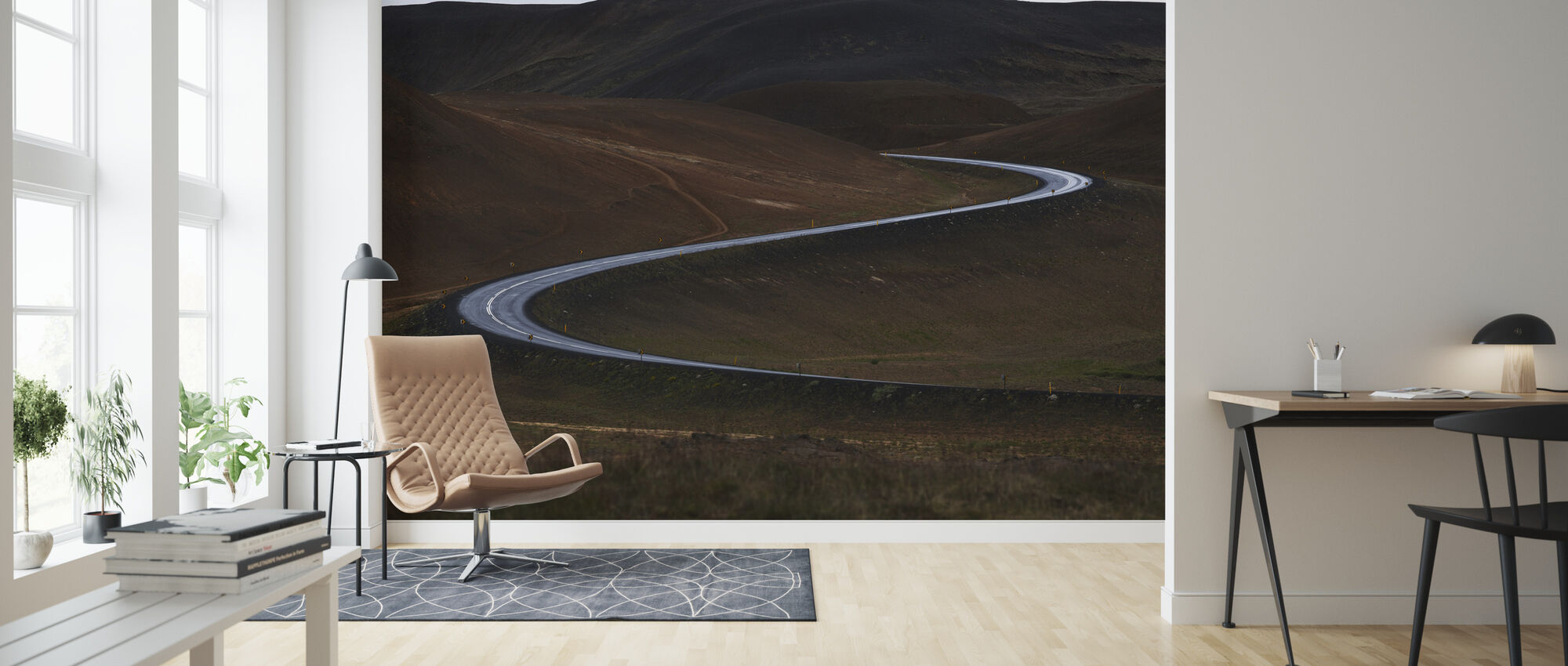 Curves of Iceland - Wallpaper - Living Room
