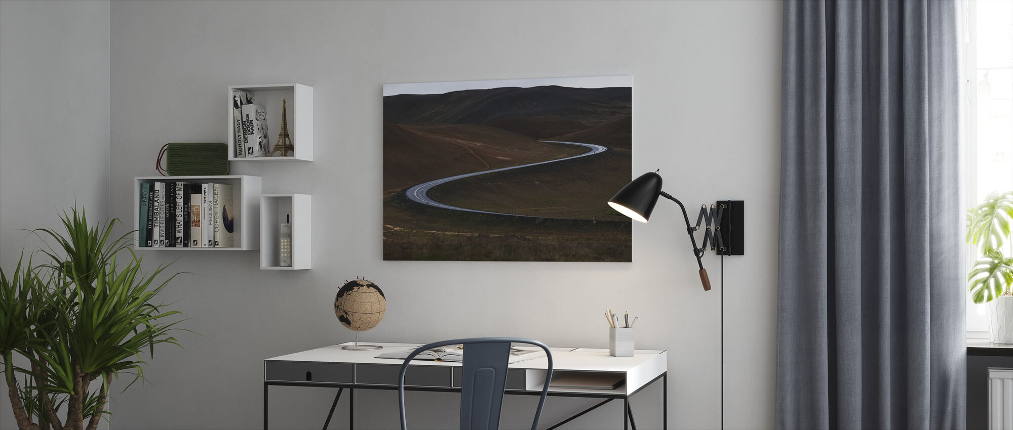 Curves of Iceland - Canvas print - Office