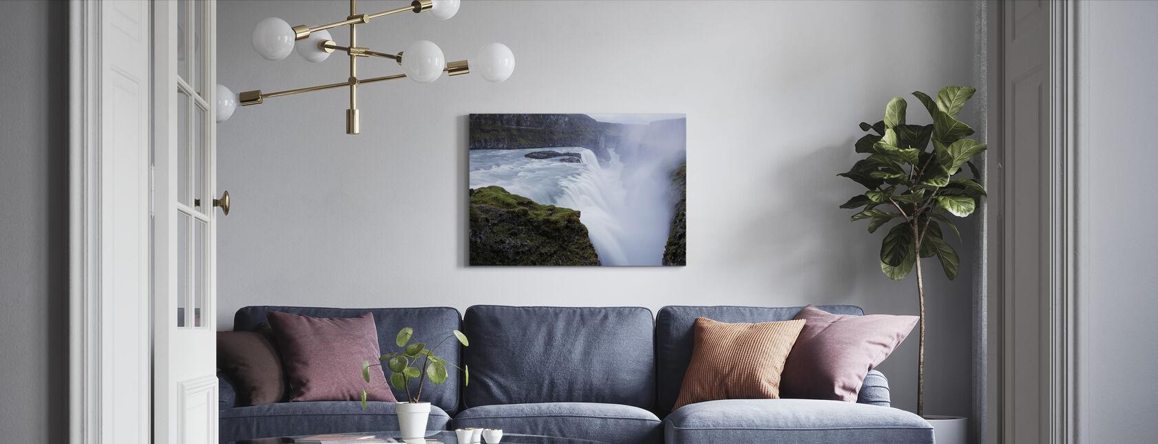 Gullfoss vandfald, Island - Billede på lærred - Stue