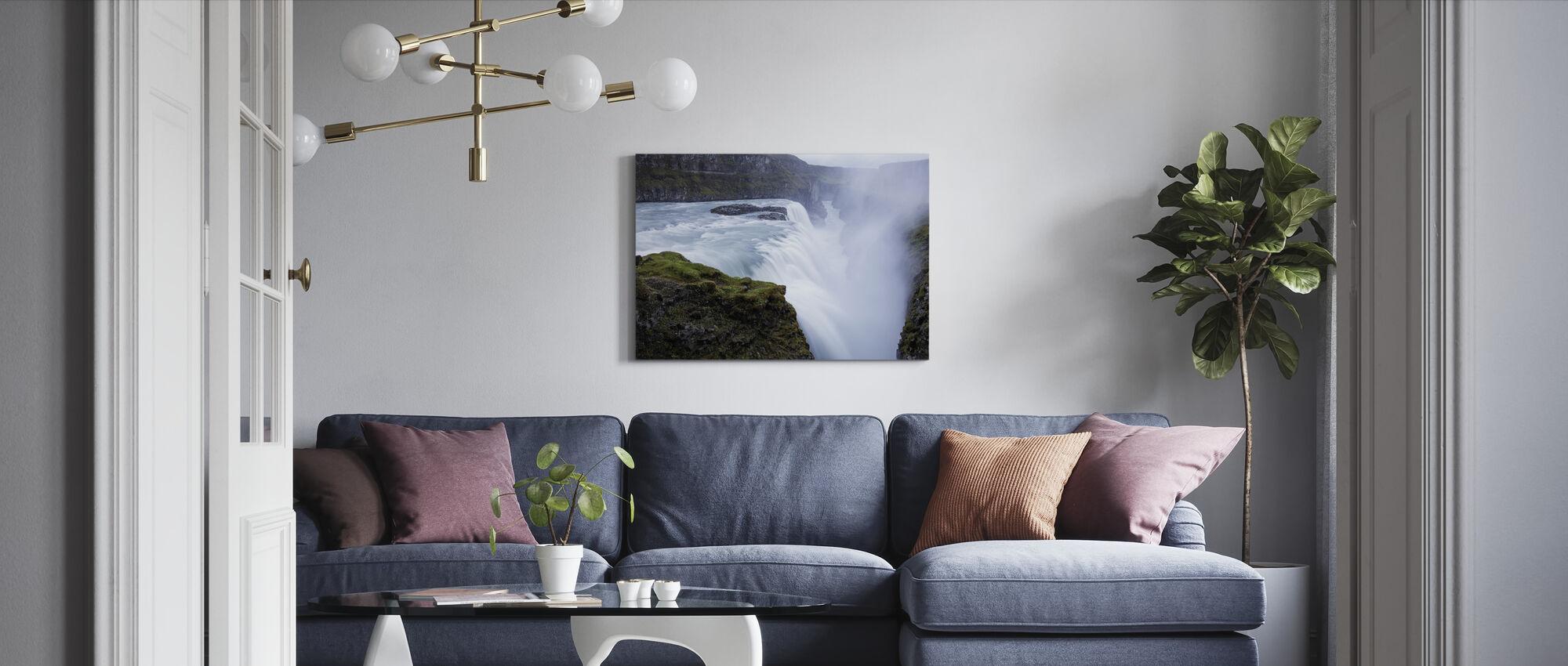 Gullfoss Waterfall, Iceland - Canvas print - Living Room
