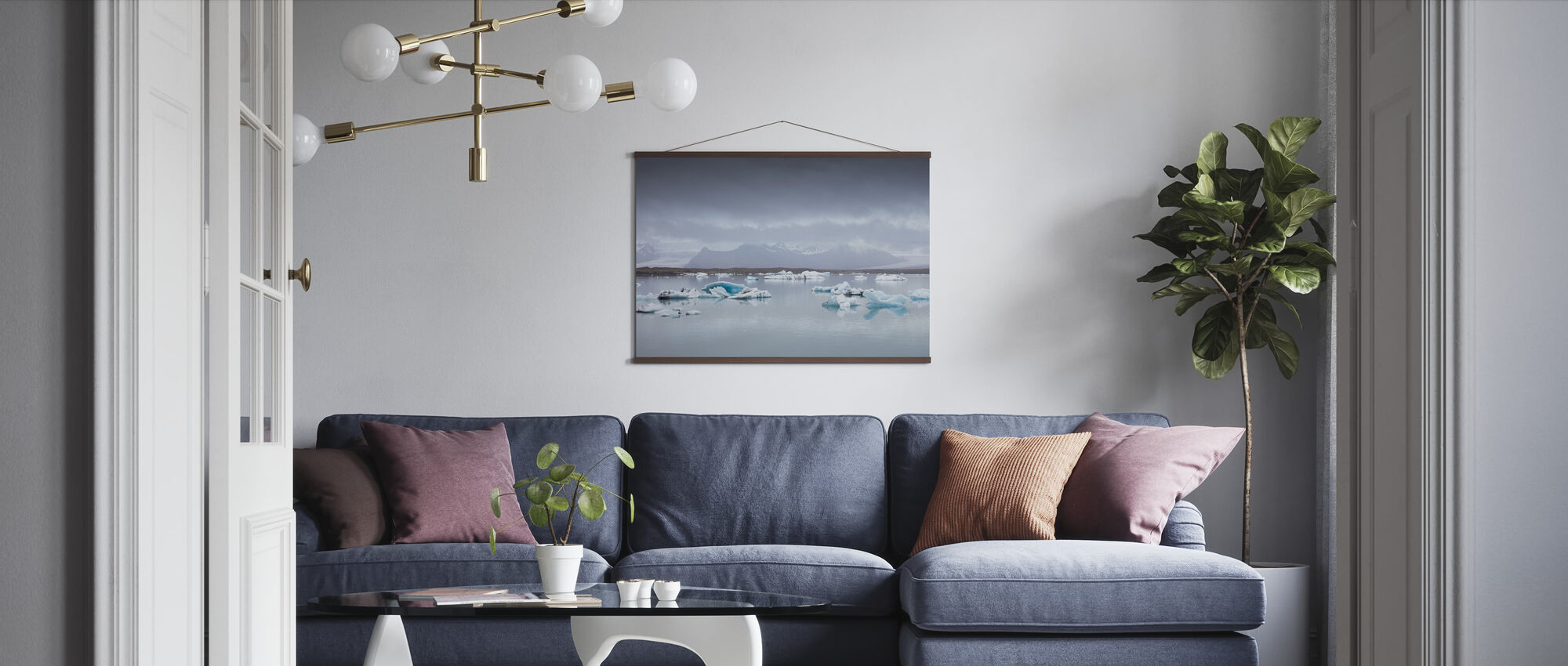 Ice of Austurland - Poster - Living Room