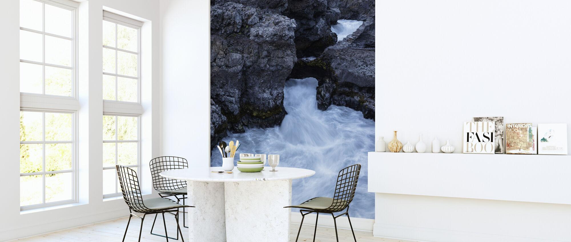 In the Depth of Hraunfossar - Wallpaper - Kitchen