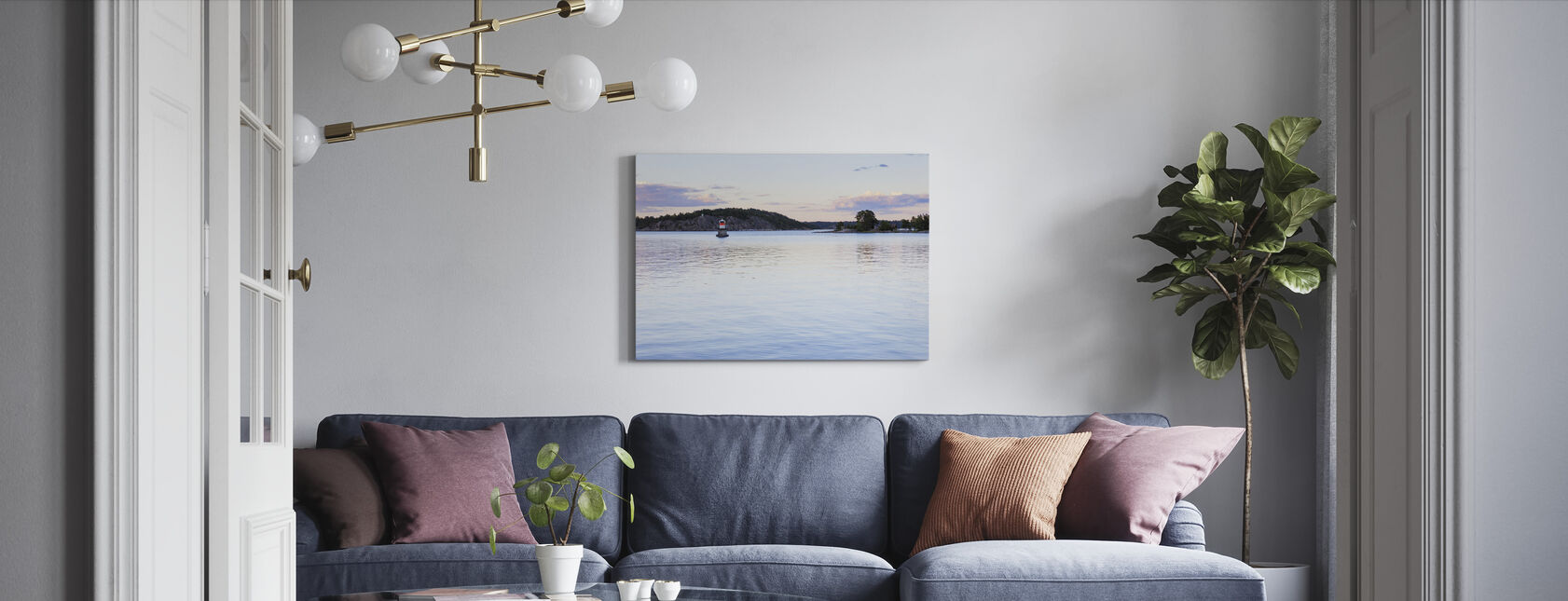 Korsholmen, Dalarö - Canvas print - Living Room