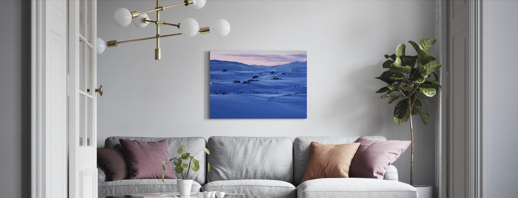 Swedish Lapland - Canvas print - Living Room