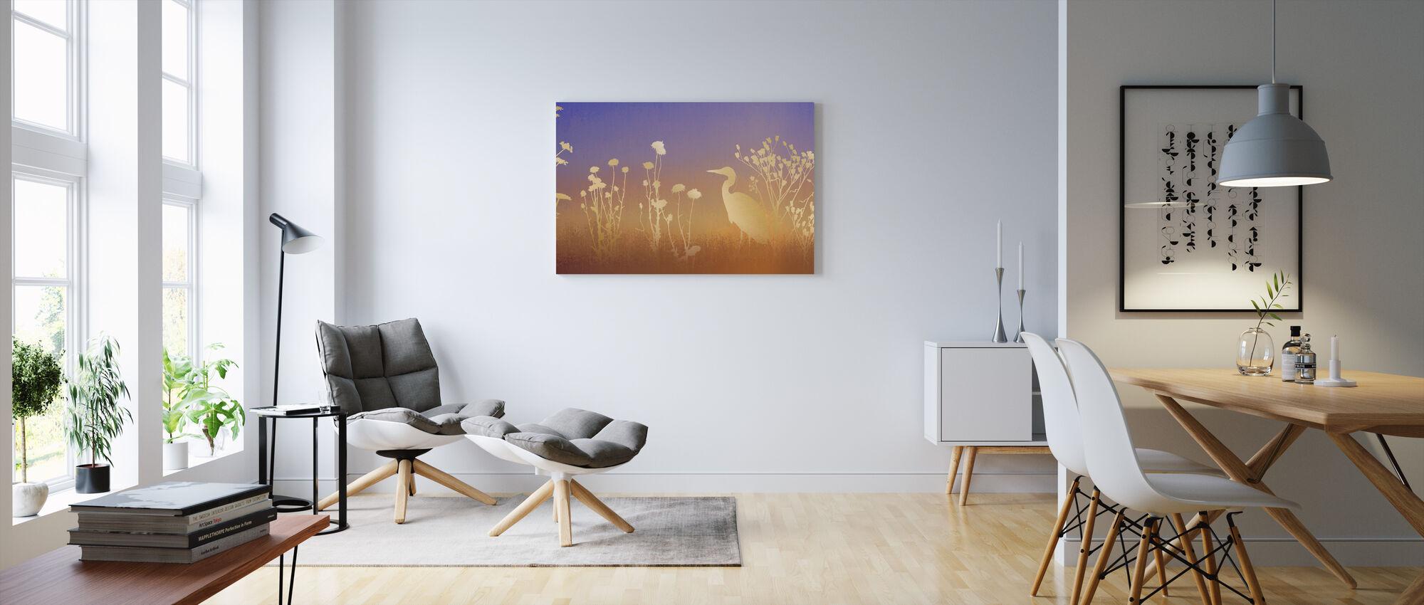 Dawn Silhouettes - Canvas print - Living Room
