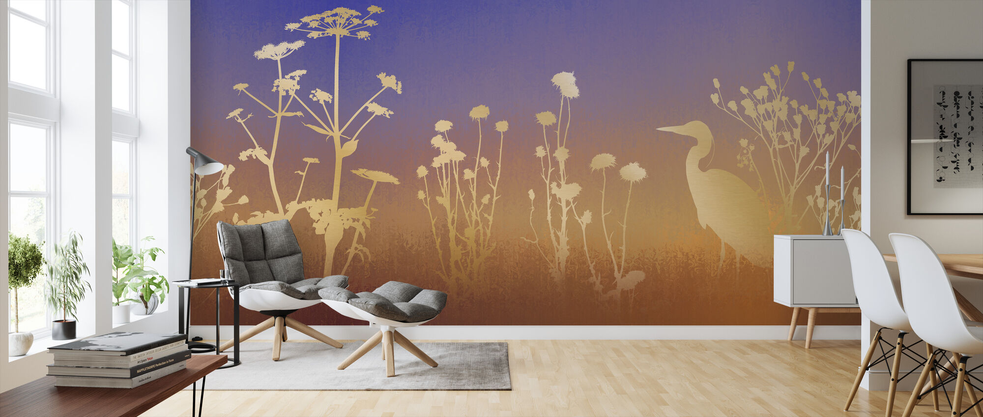 Dawn Silhouettes - Wallpaper - Living Room