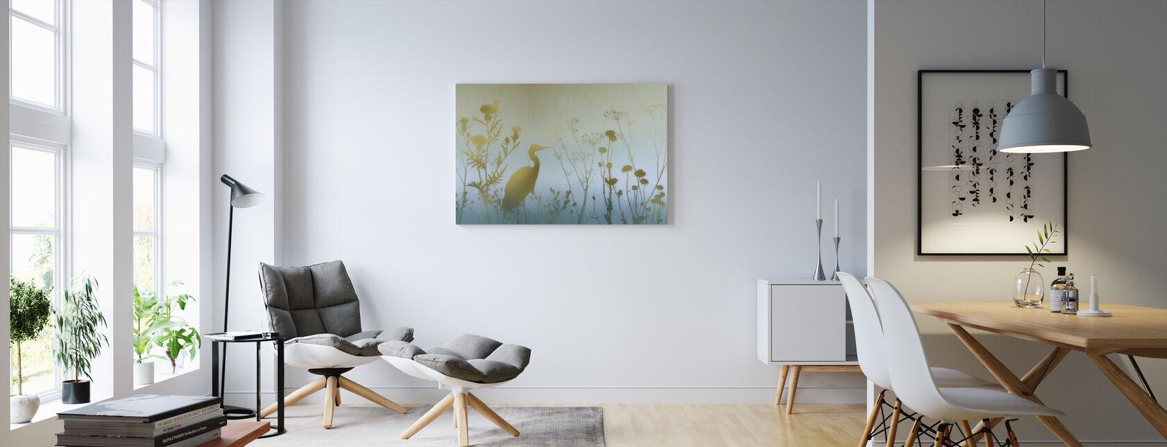 Hazy Dawn Silhouettes - Canvas print - Living Room