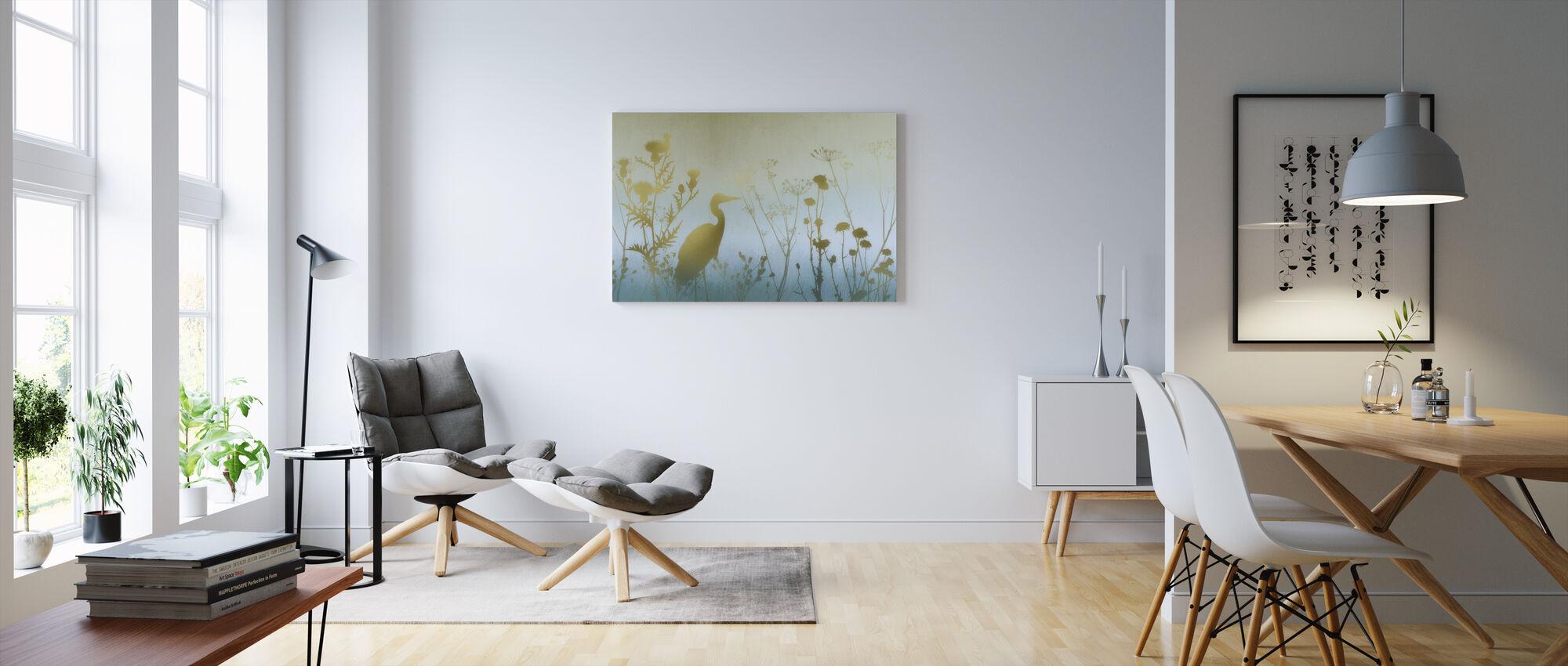 Wazy Dawn Silhouetten - Canvas print - Woonkamer