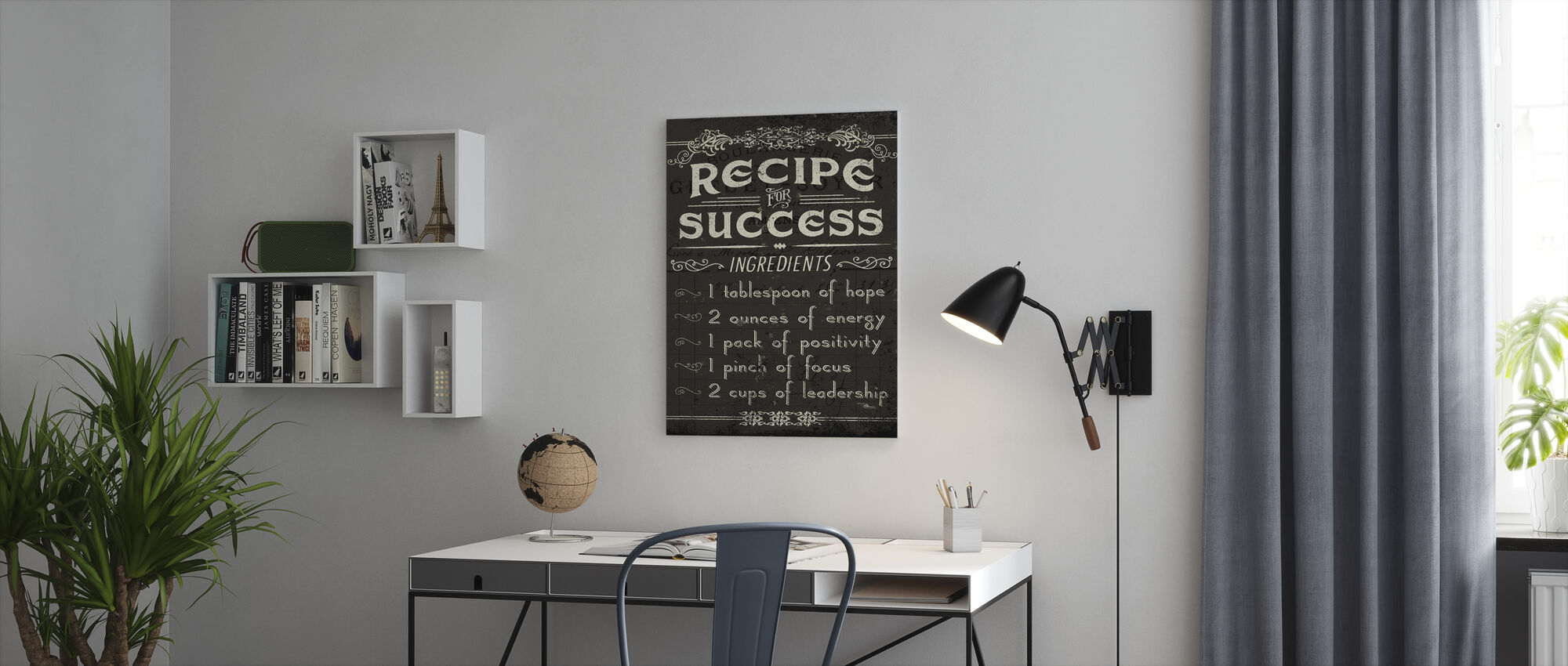 Life Recipes II - Canvas print - Office