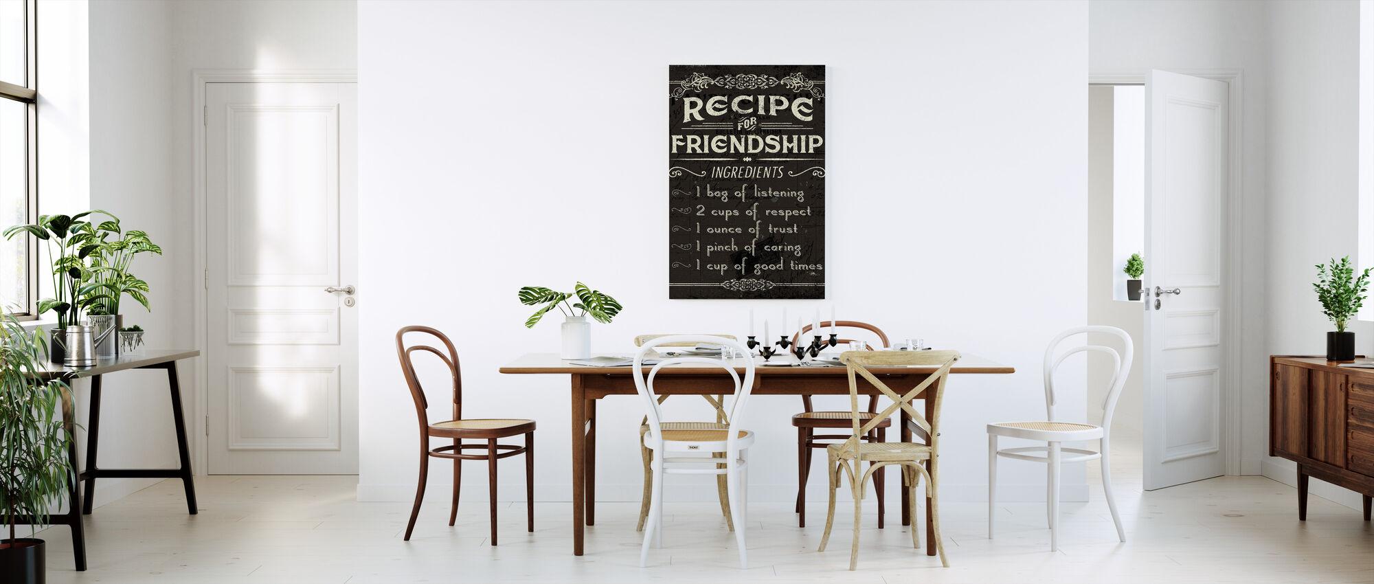 Life Recipes III - Canvas print - Kitchen