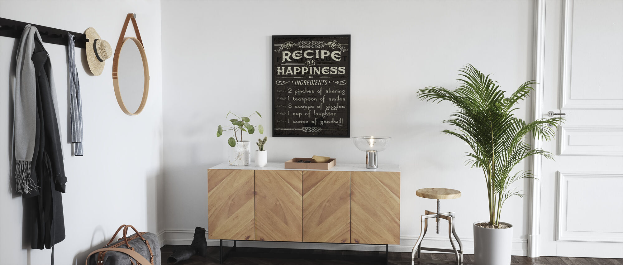 Life Recipes IV - Framed print - Hallway