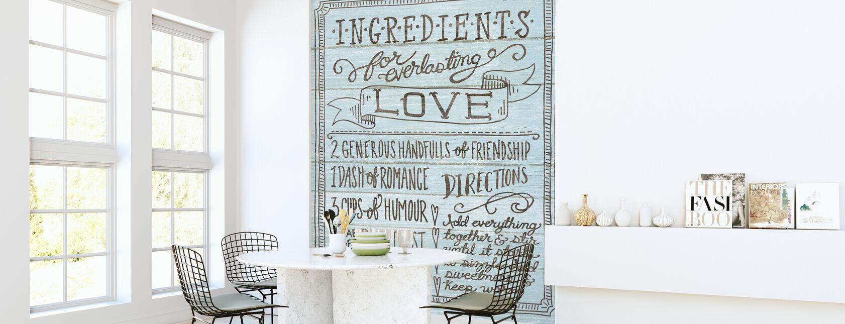 Ingrediënten voor Life I Blue - Behang - Keuken