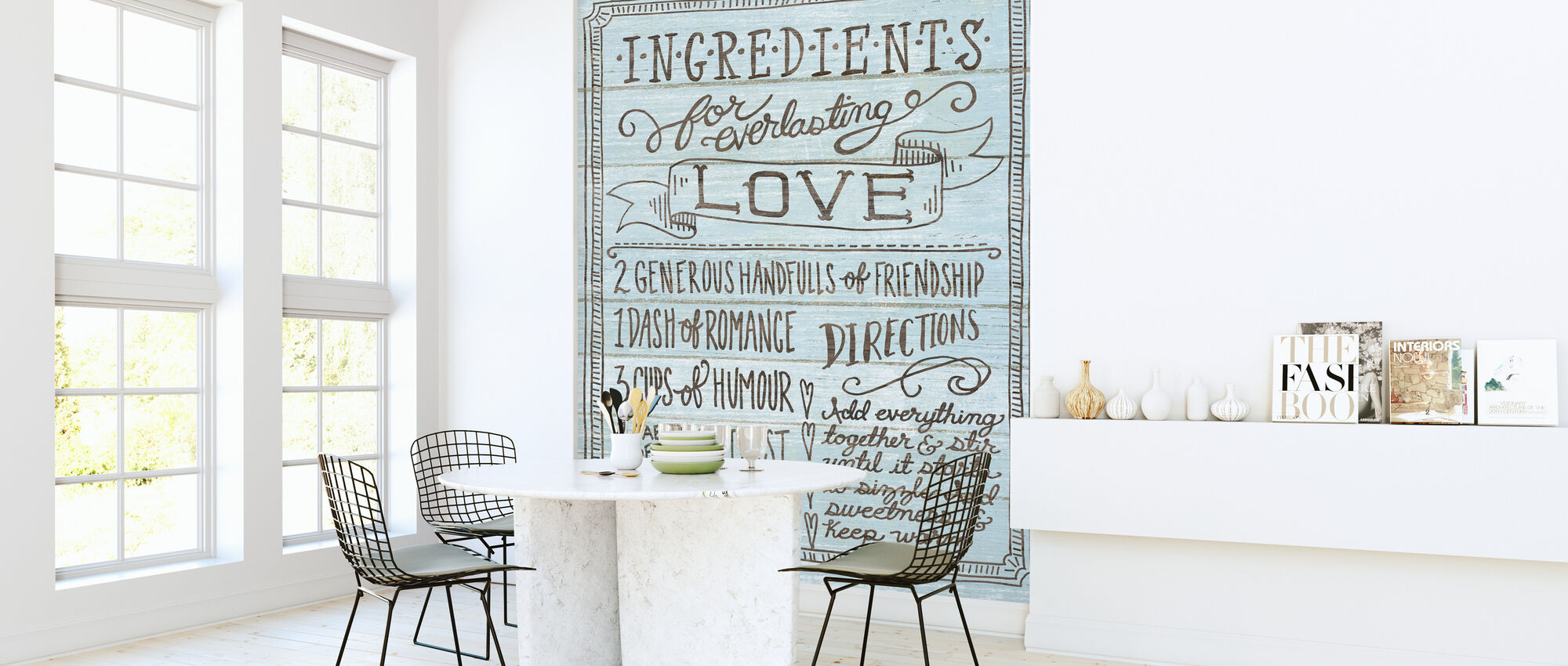 Ingredients for Life I Blue - Wallpaper - Kitchen