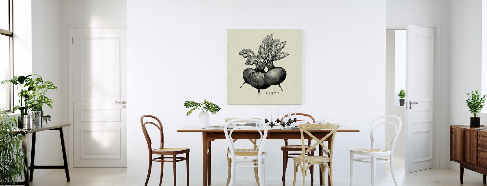 Ilustracja kuchenna - Buraki - Obraz na płótnie - Kuchnia
