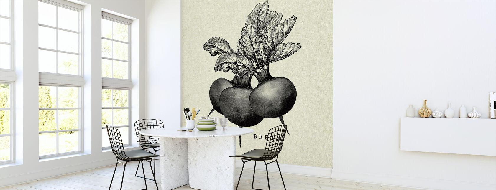 Keuken Illustratie - Bieten - Behang - Keuken