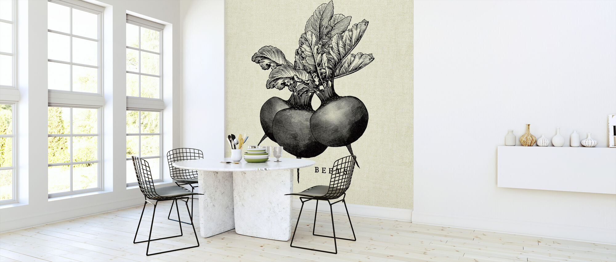 Kitchen Illustration - Beets - Wallpaper - Kitchen