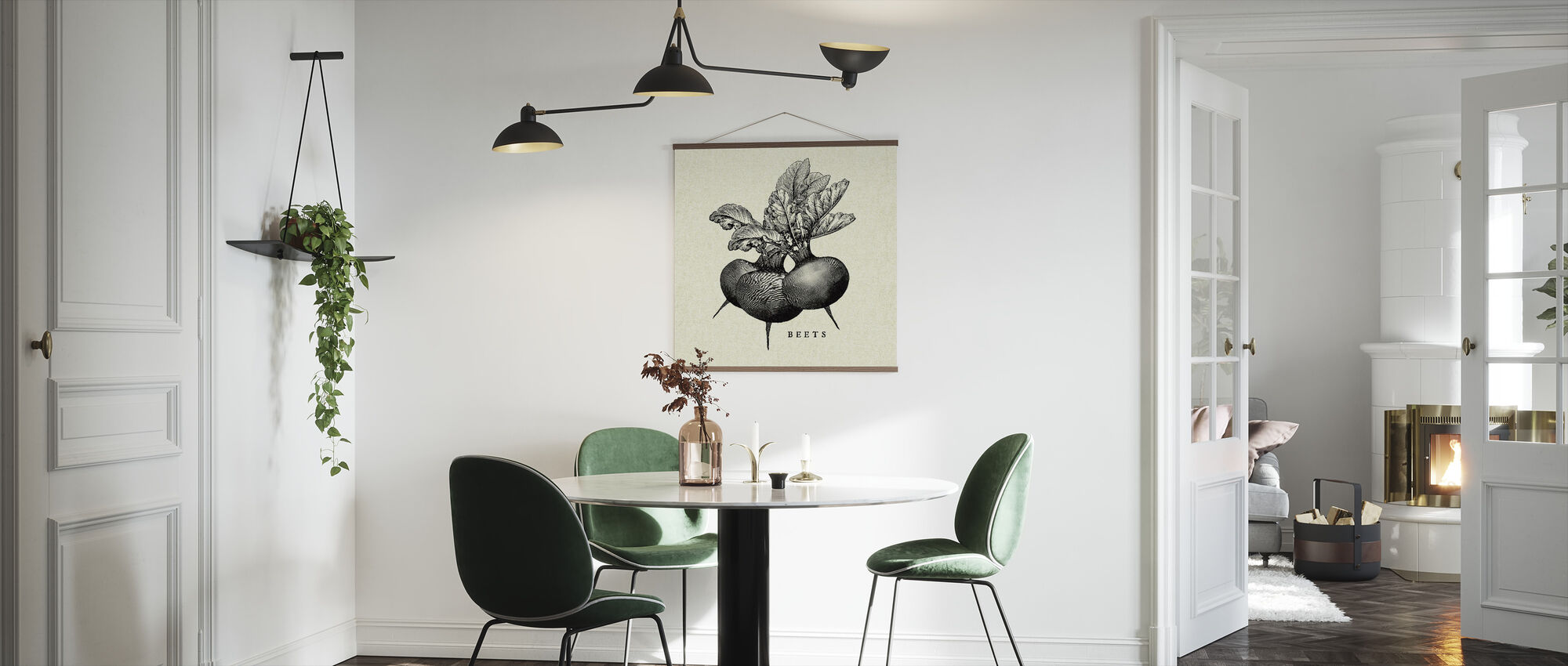 Kitchen Illustration - Beets - Poster - Kitchen