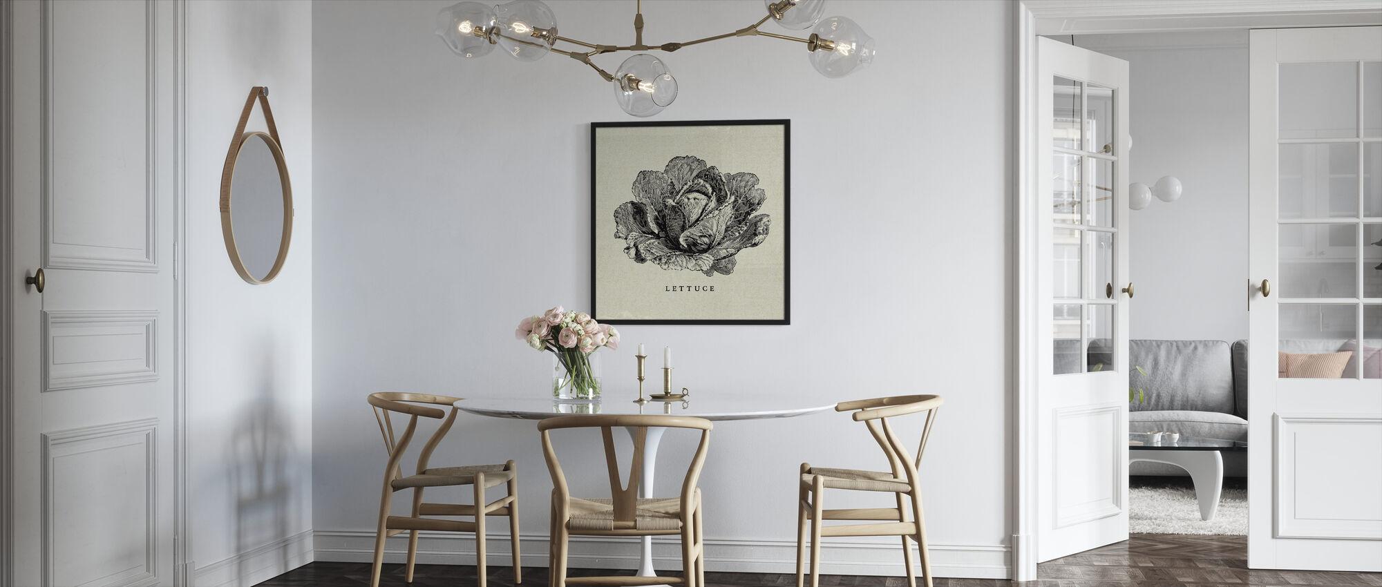 Keuken Illustratie - Sla - Ingelijste print - Keuken
