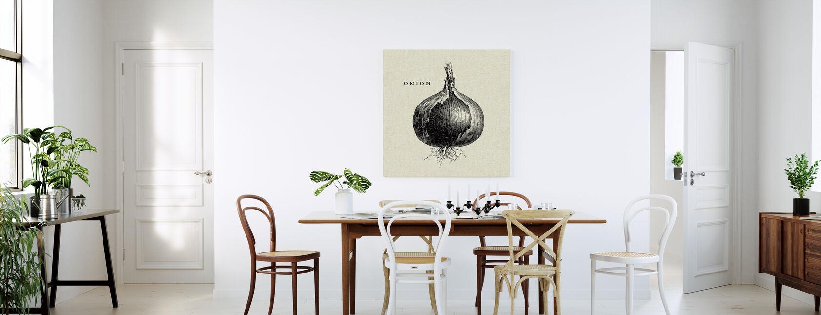 Kitchen Illustration - Onion - Canvas print - Kitchen