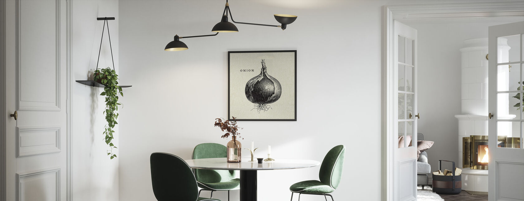 Kitchen Illustration - Onion - Framed print - Kitchen