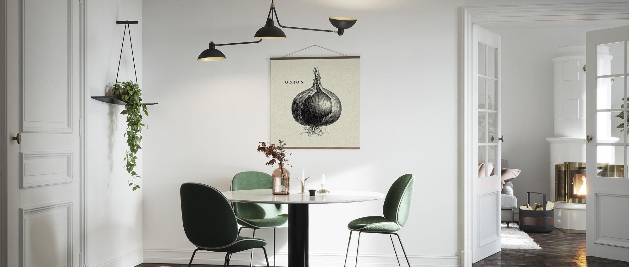 Kitchen Illustration - Onion - Poster - Kitchen