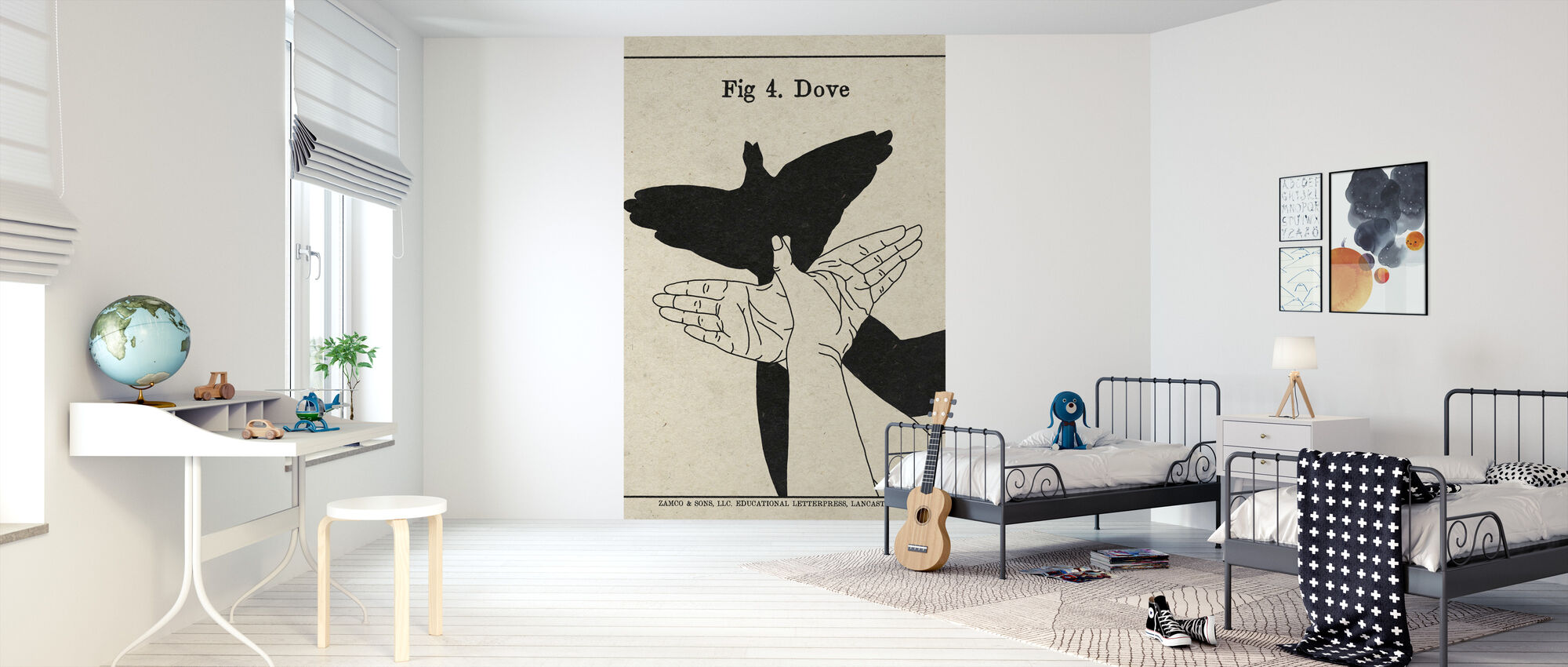 The Art of Shadows - Dove - Wallpaper - Kids Room