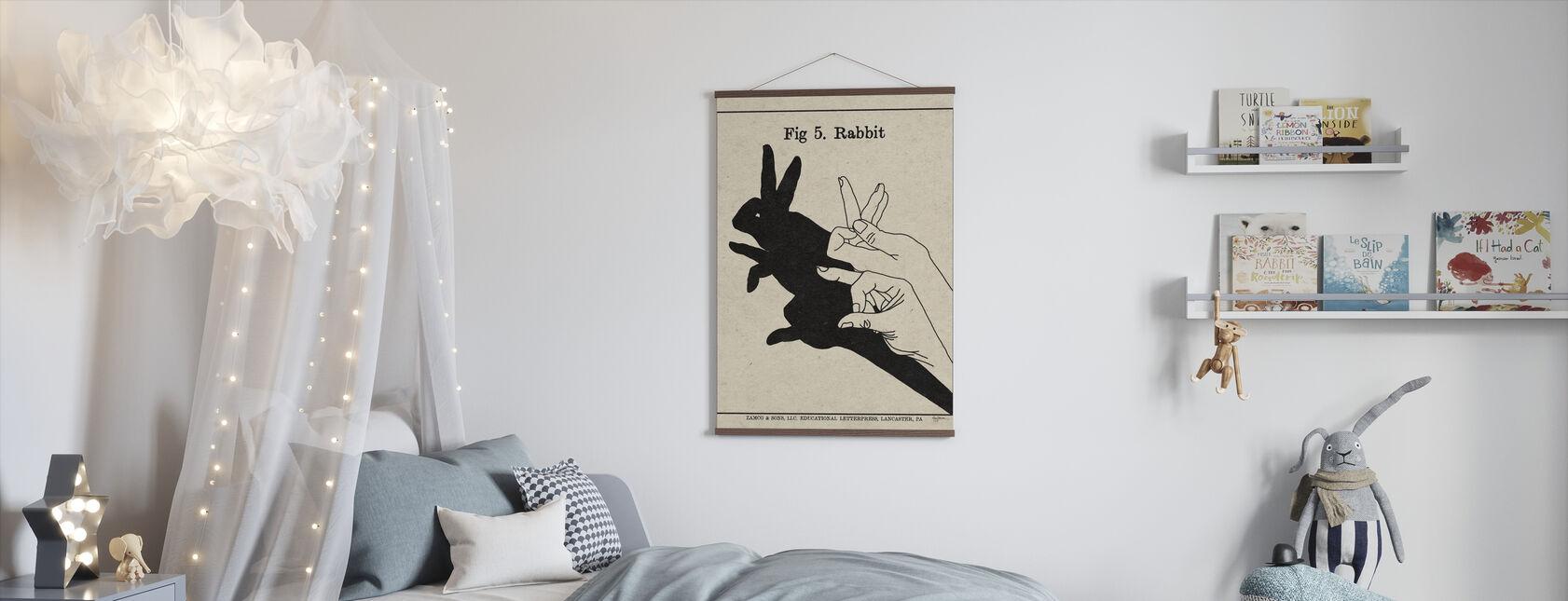 Die Kunst der Schatten - Kaninchen - Poster - Kinderzimmer