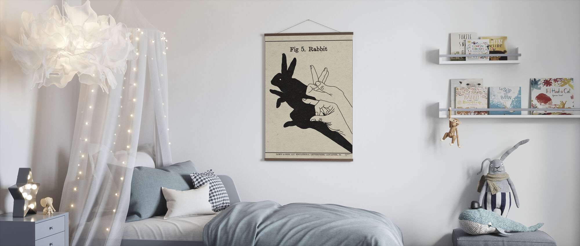 The Art of Shadows - Rabbit - Poster - Kids Room