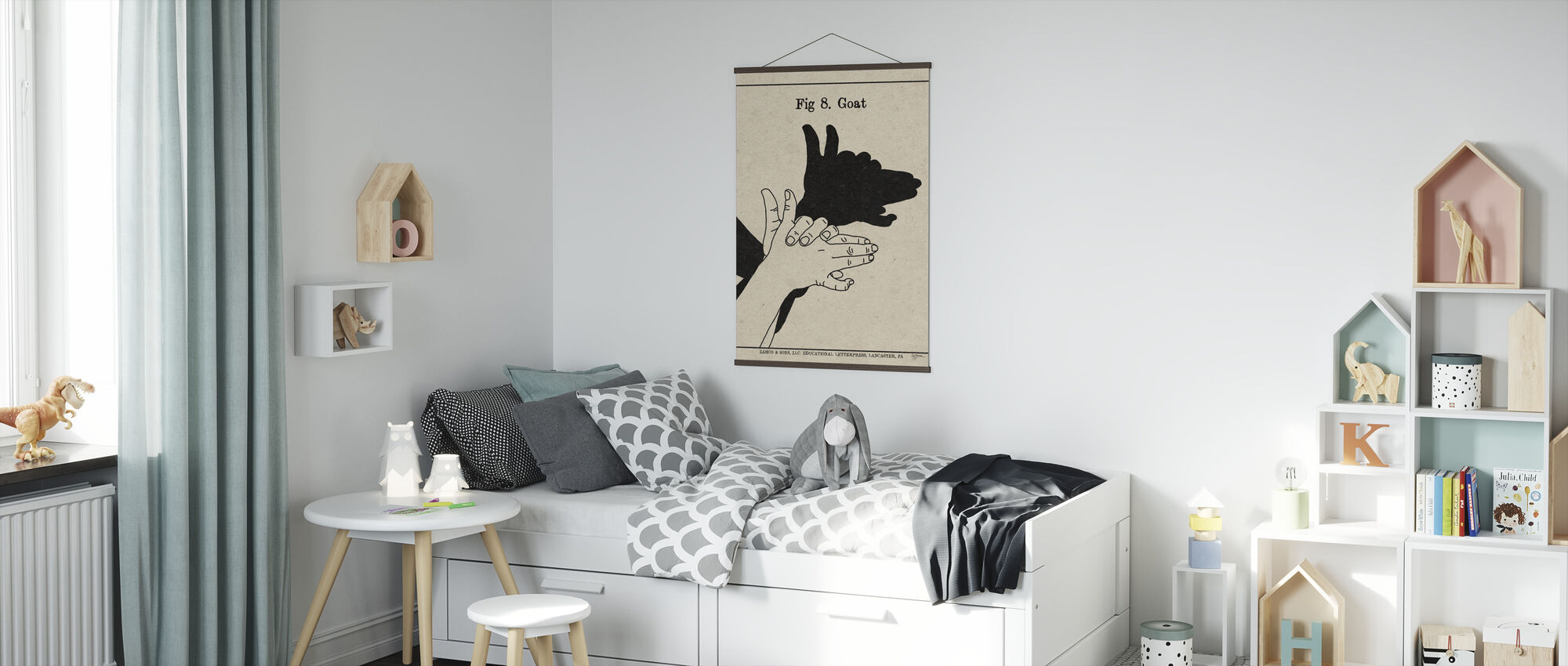 The Art of Shadows - Goat - Poster - Kids Room