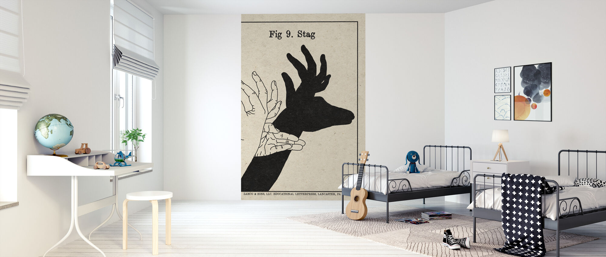 The Art of Shadows - Stag - Wallpaper - Kids Room