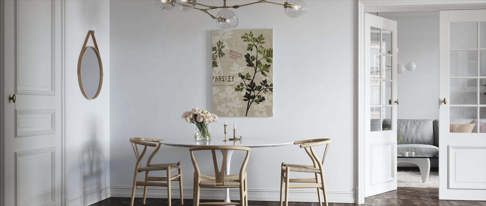 Organisk persille - Lerretsbilde - Kjøkken
