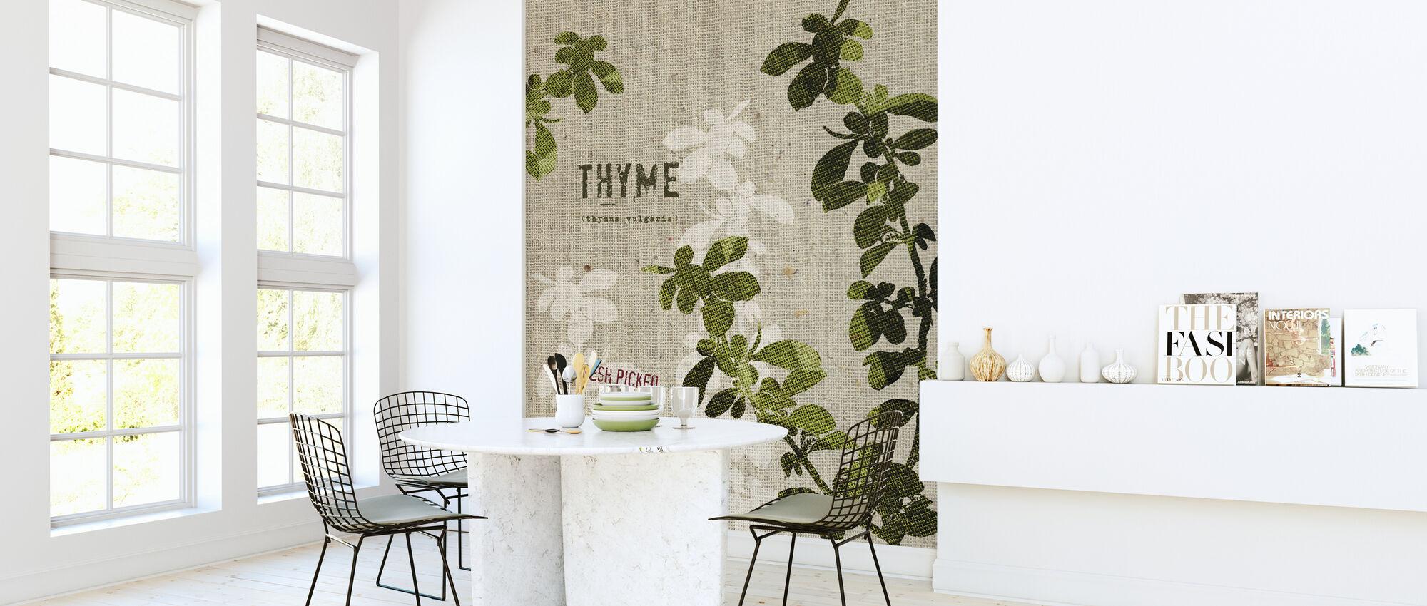 Organisk timian - Tapet - Kjøkken