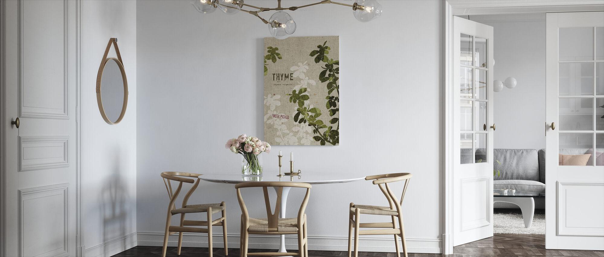 Organische tijm - Canvas print - Keuken