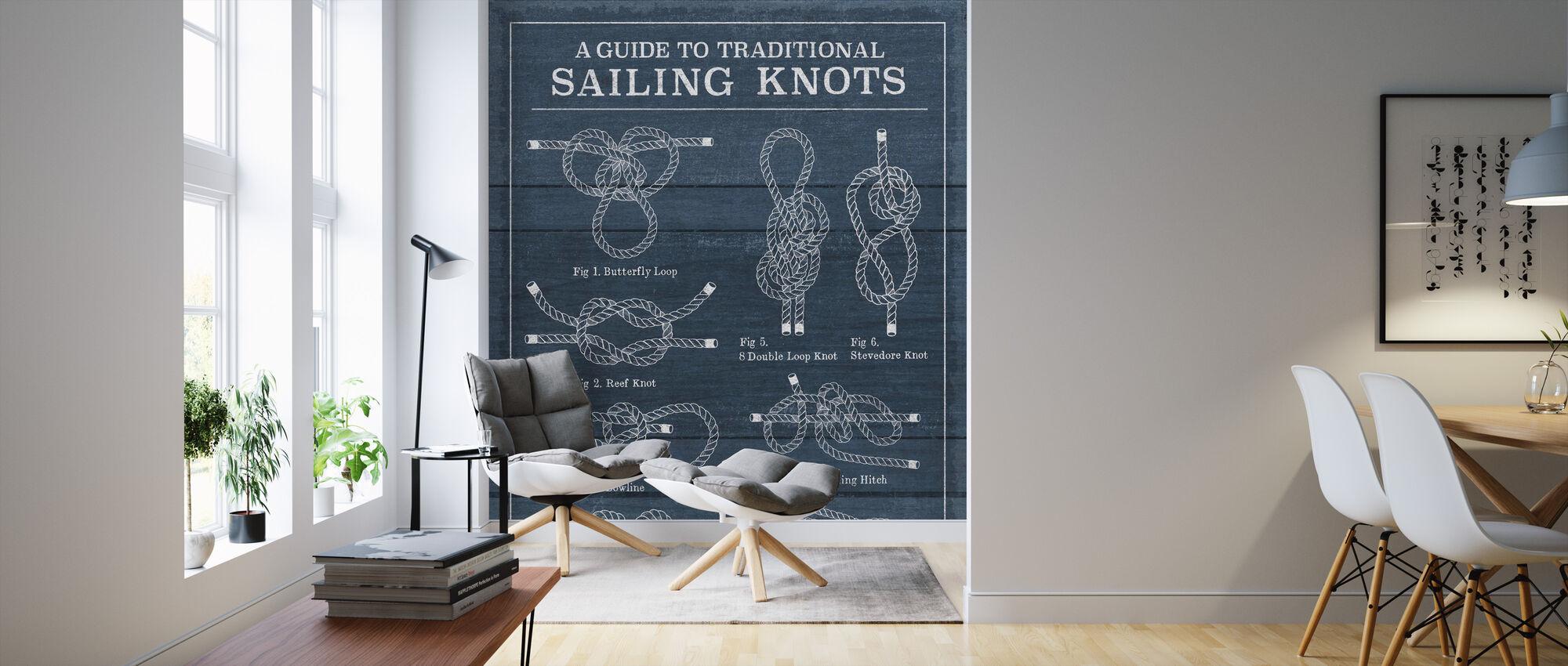 Vintage Sailing Knots - Wallpaper - Living Room