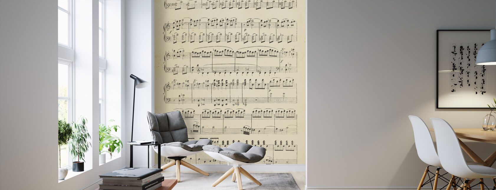 Musical Notes part 1 - Wallpaper - Living Room