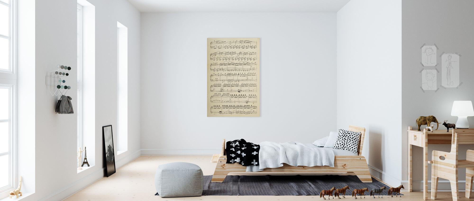 Muzikale noten deel 1 - Canvas print - Kinderkamer