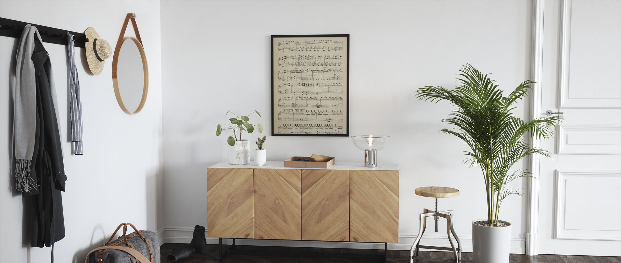 Musical Notes part 1 - Framed print - Hallway