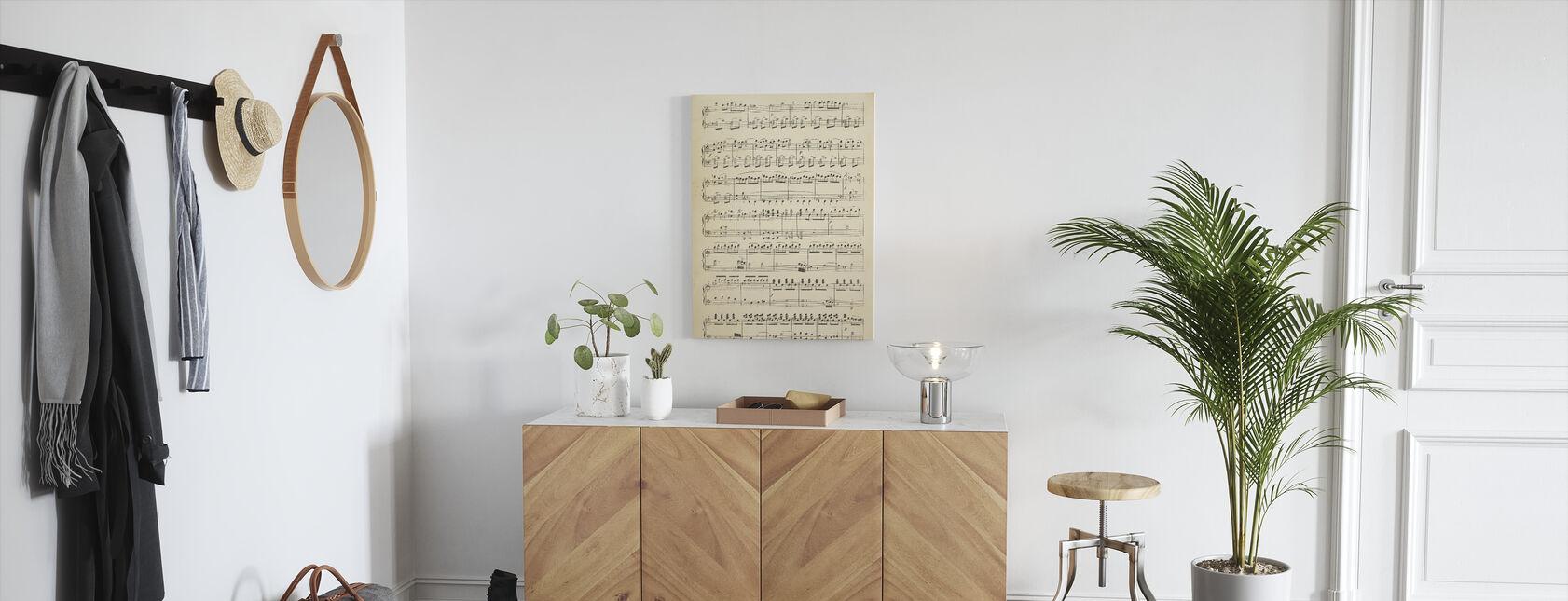 Musikaaliset nuotit osa 1 - Canvastaulu - Aula