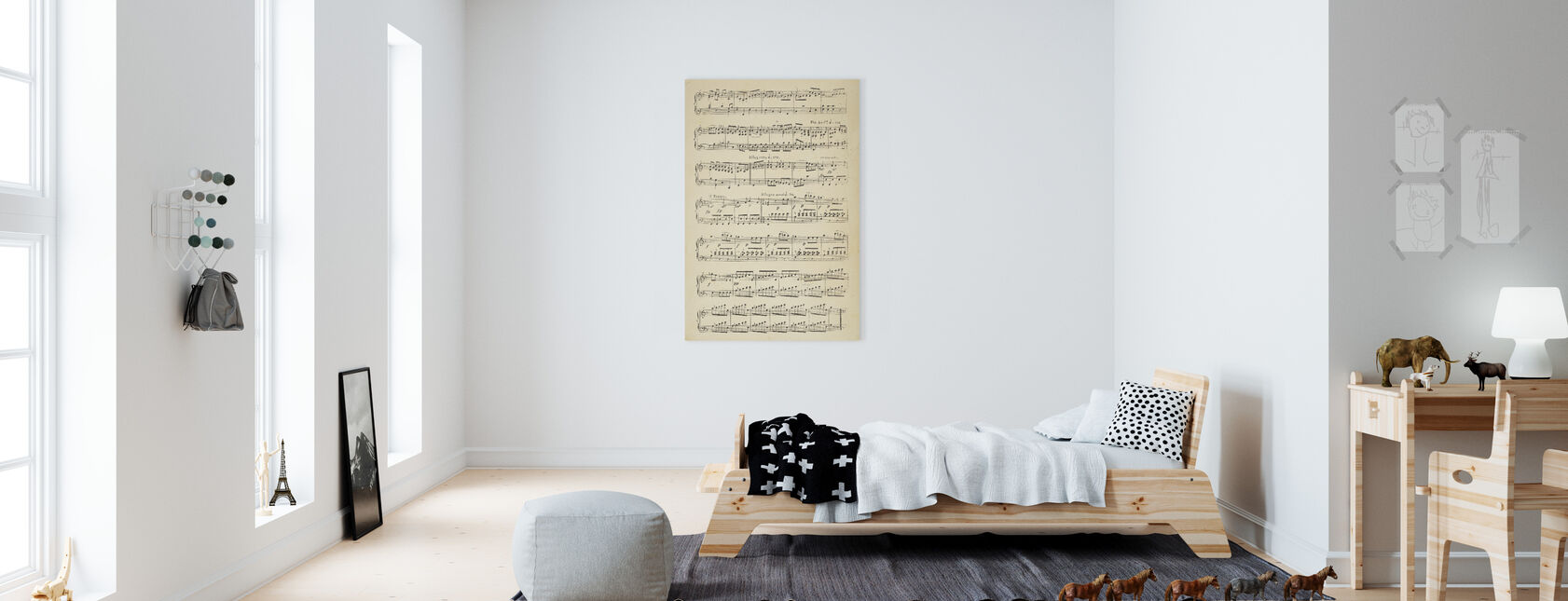 Musical Notes part 2 - Canvas print - Kids Room