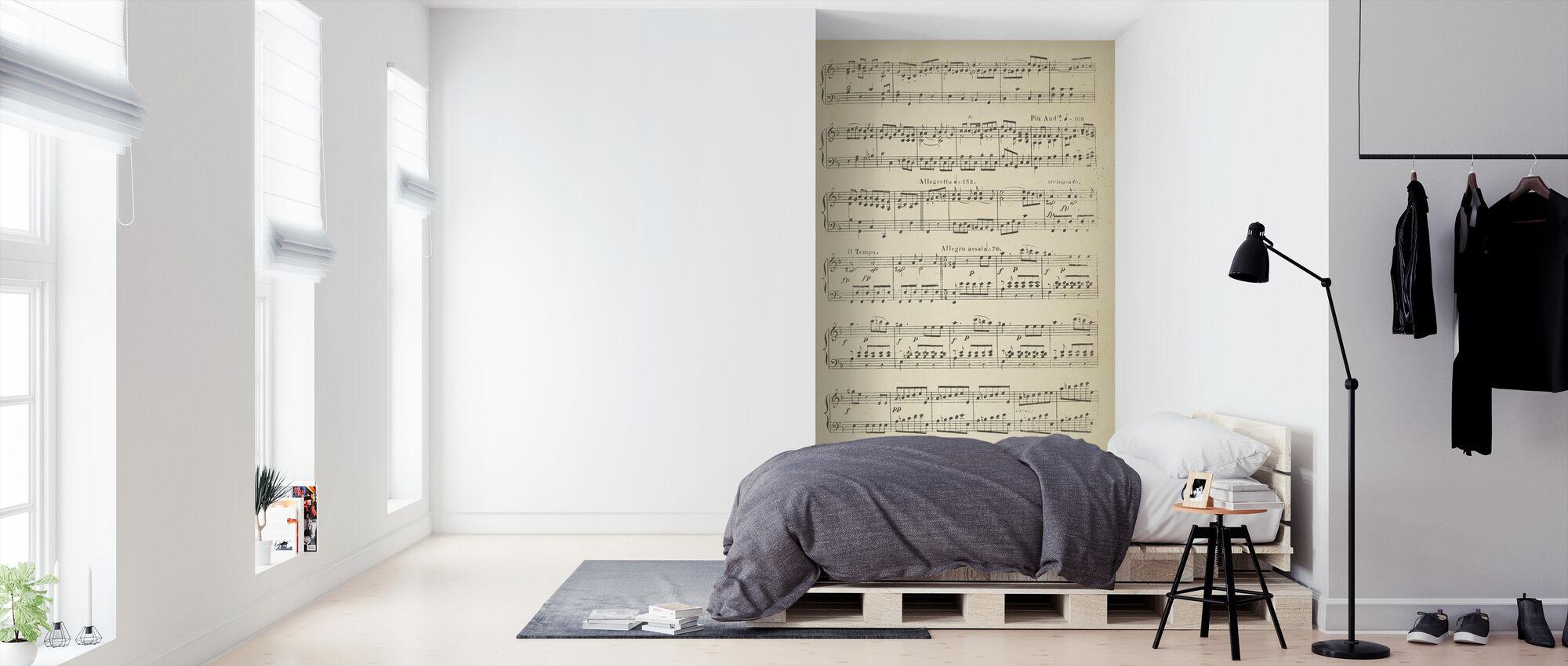 Musikalske noter del 2 - Tapet - Soveværelse