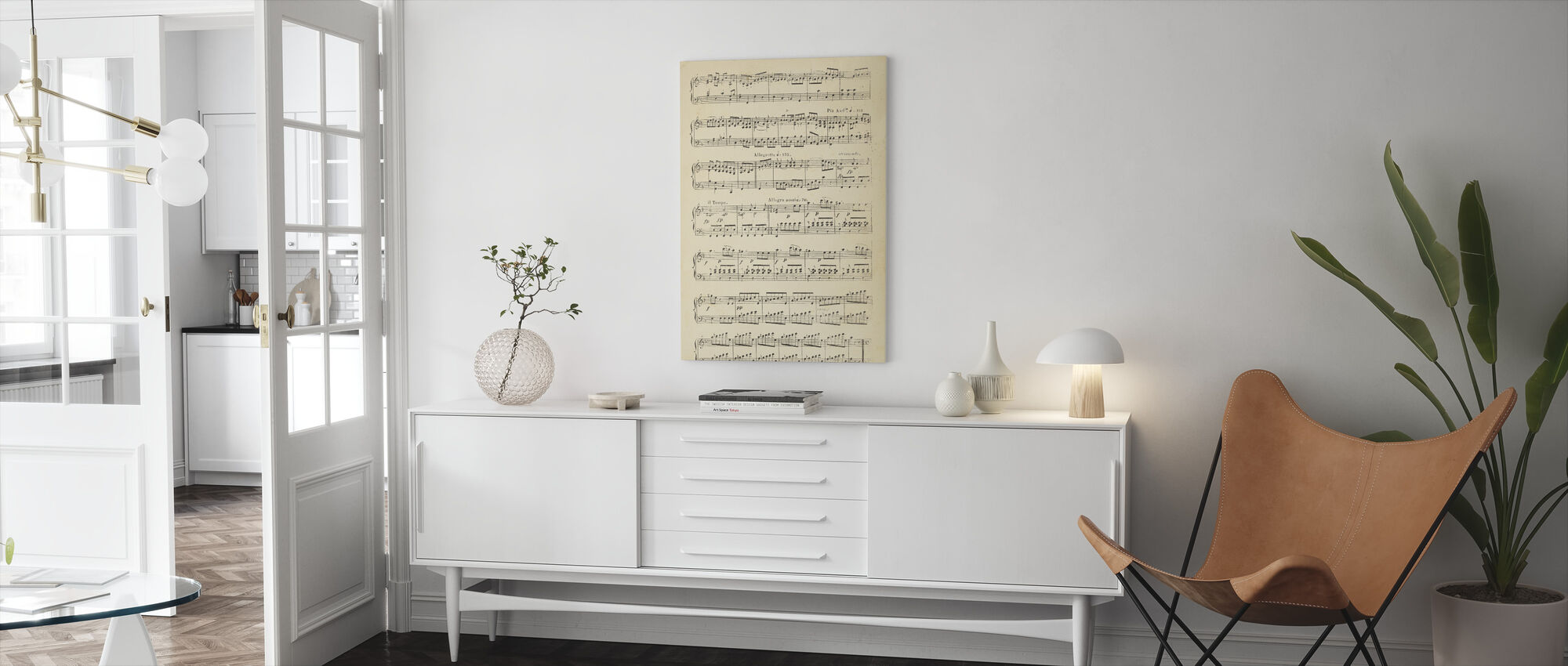 Musical Notes part 2 - Canvas print - Living Room