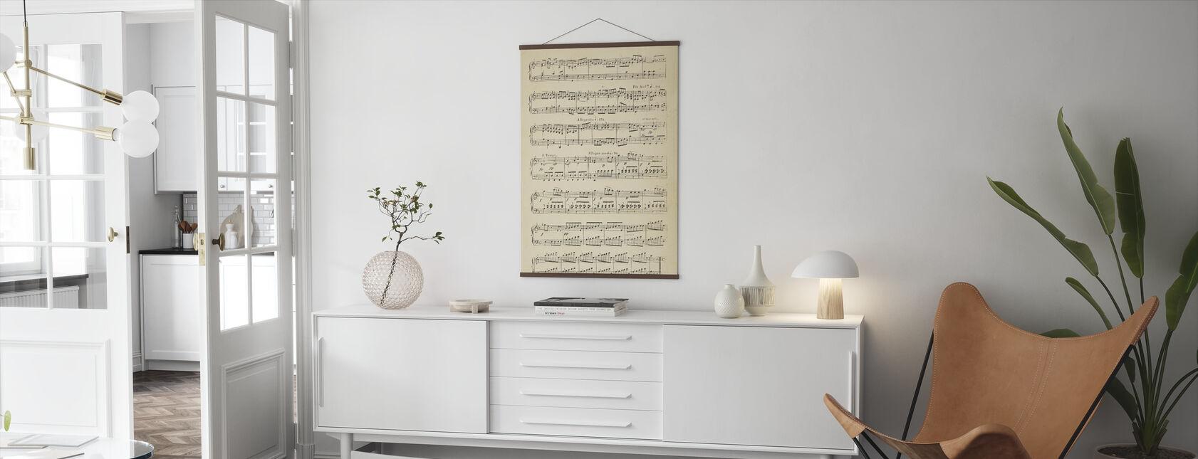 Musikaaliset nuotit osa 2 - Juliste - Olohuone