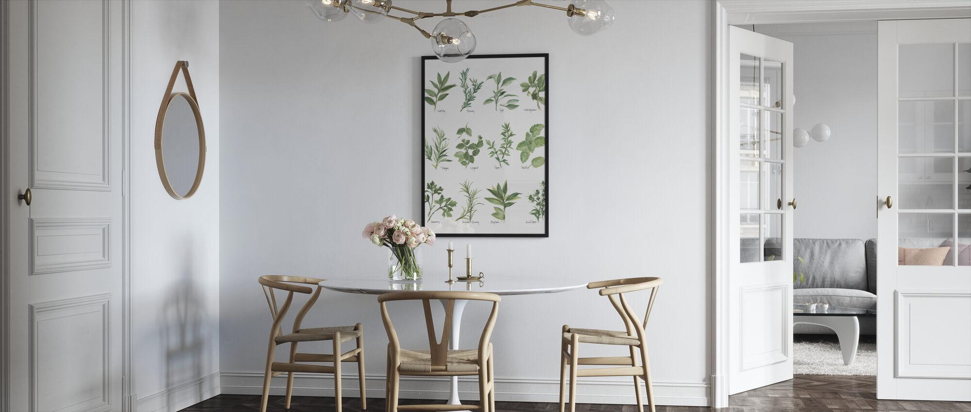 Herb Chart - Framed print - Kitchen