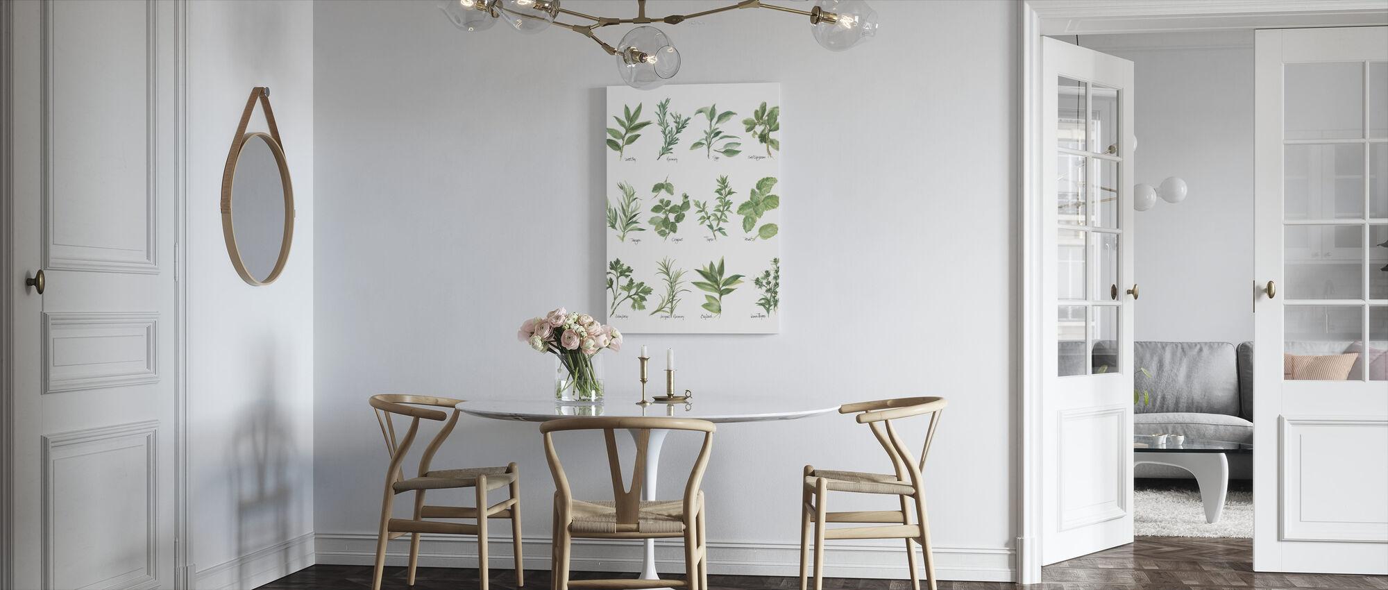 Herb Chart - Canvas print - Kitchen