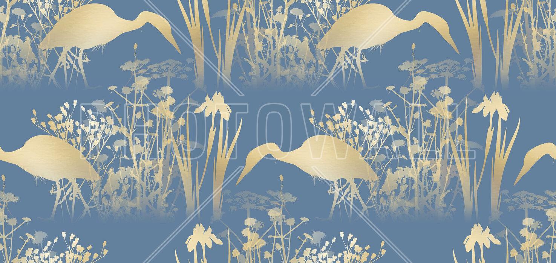 Fishing Heron Goldenlight - Wallpaper