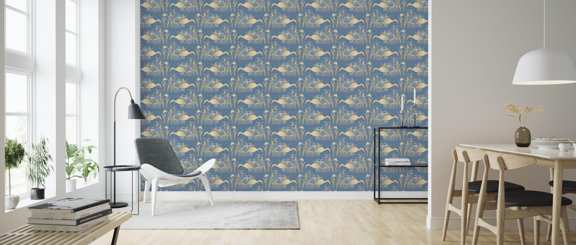 Fishing Heron Goldenlight - Wallpaper - Living Room