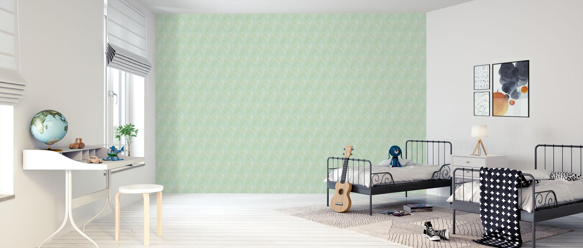 Aquarellen Groen - Behang - Kinderkamer